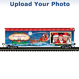 2020 Holiday Photo Personalized Train Car