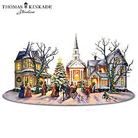 Thomas Kinkade A Victorian Christmas Carol Sculpture