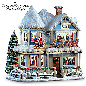 Thomas Kinkade 'Twas The Night Before Christmas Story House