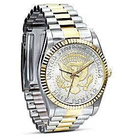 Official JFK Half Dollar Presidential Men's Watch