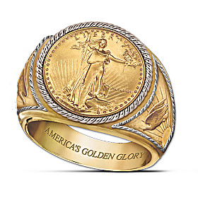 Saint-Gaudens Golden Proof Ring