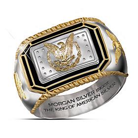 The Morgan Silver Ingot Ring