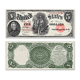 "The Series 1907 $5 Legal Tender ""Woodchopper"" Bill"