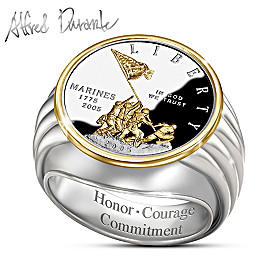 Alfred Durante Iwo Jima Commemorative Proof Ring