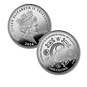 Princess Charlotte 1st Birthday 99.9% Silver Crown Coin