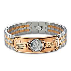 The Genuine Steel Penny Men's Bracelet