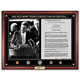 The JFK Inaugural Address Wall Decor