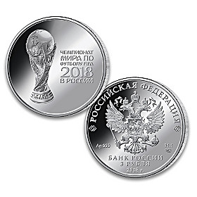 2018 FIFA World Cup One Ounce 99.9% Silver Coin