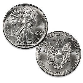 The First Year Of Issue Eagle Silver Coin