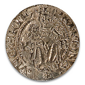 The Hungary Madonna And Child Silver Denar Ancient Coin