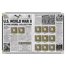 U.S. World War II Silver Nickel Coin Set