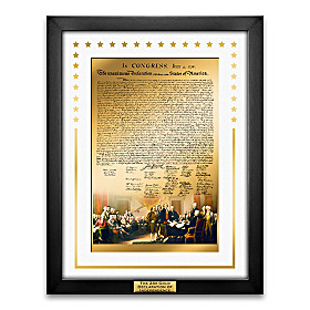 24K Gold Declaration Of Independence Masterpiece Wall Decor
