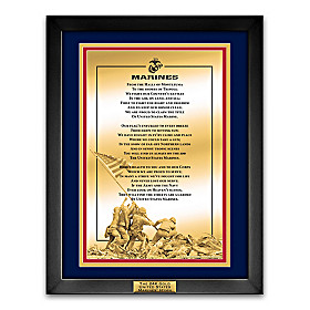 The 24K Pure Gold United States Marines' Hymn Wall Decor