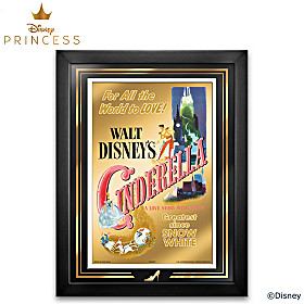 Disney Cinderella 24K Gold Poster Wall Decor