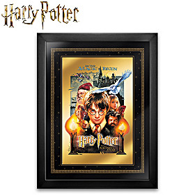 HARRY POTTER 24K Gold Movie Poster Wall Decor